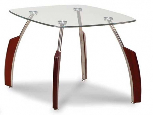 138 End Table - Mahogany/Chrome