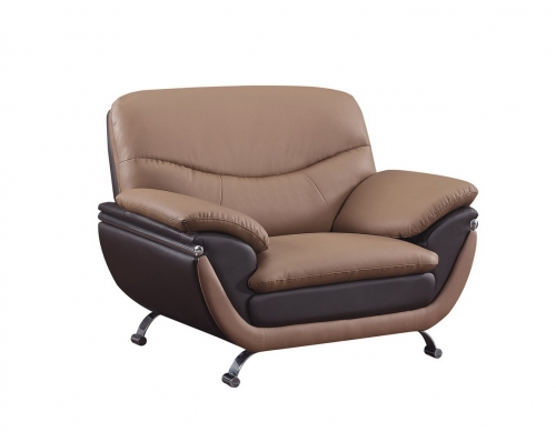 2106 Chair - Brown/Dark Brown