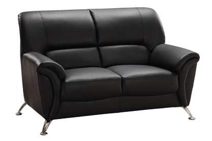9103 Love Seat - Black
