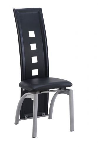 1058DC Dining Chair - Vinyl/Black - Metal Legs