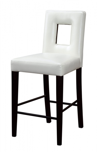 G072 Bar Stool - Vinyl/Beige - MDF/Wood Legs