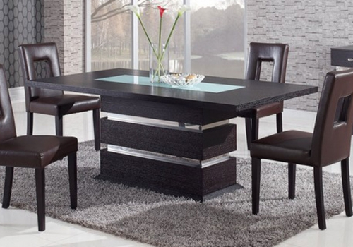 G072DT Dining Table - Wood Veneer - Frosted/Wenge