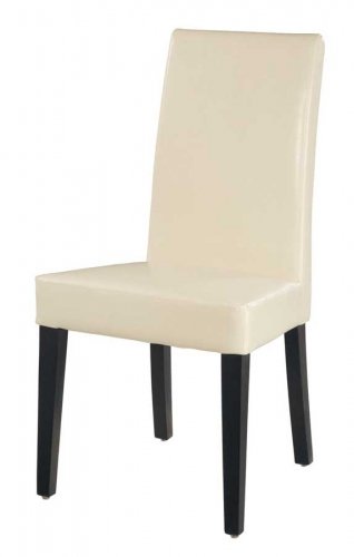 G020 Dining Chair-Beige Leatherette Cushion and Wenge Wood