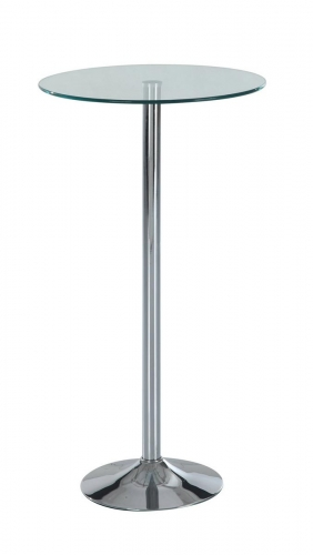828 - Bar Table - Glass - Metal Legs