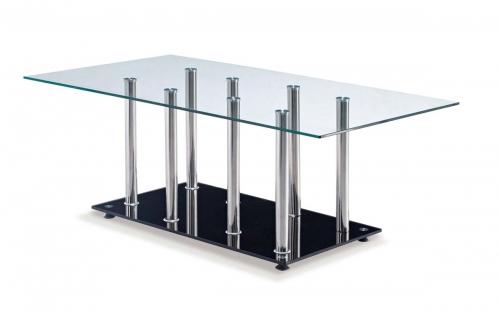 368 Coffee Table - Black - Stainless Steel Legs