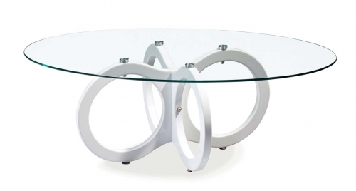 715 Coffee Table - Glossy White - MDF Legs