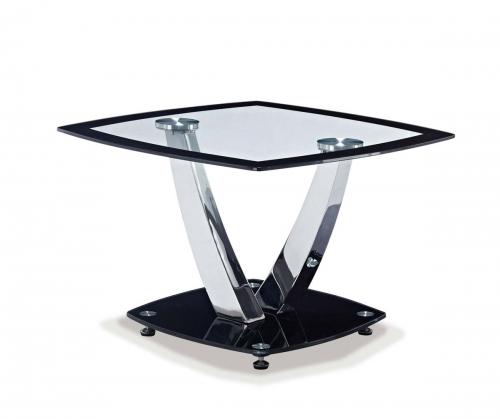 716 End Table - Black - Metal Legs