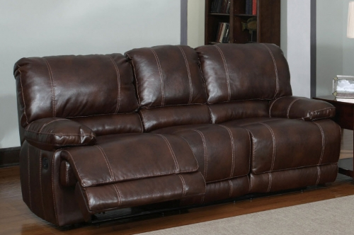1953 Reclining Sofa - Bonded Leather - Brown