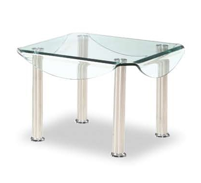 CB020 End Table - Clear Glass
