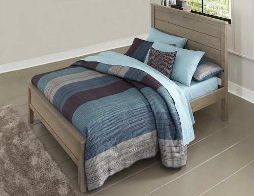 Highlands Alex Panel Bed - Driftwood