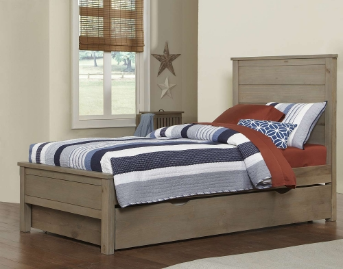 NE Kids Highlands Alex Bed With Trundle - Driftwood