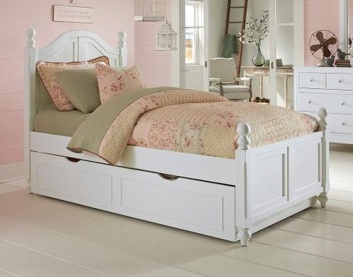 NE Kids Lake House Payton Arch Bed With Trundle - White