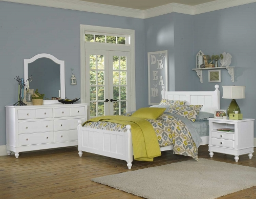 Lake House Kennedy Panel Bedroom Set - White