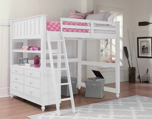 Lake House Loft Bed - White