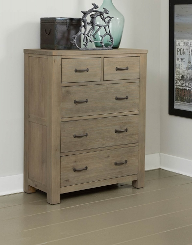 NE Kids Highlands 5 Drawer Chest - Driftwood