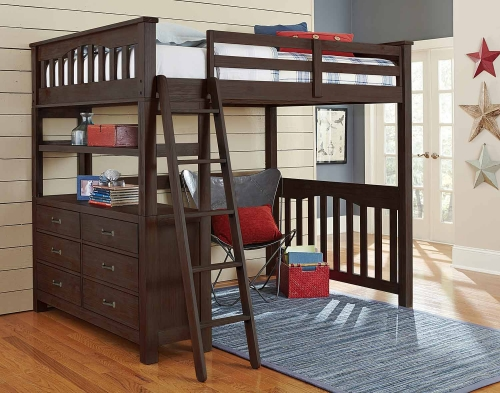 Highlands Loft Bed - Espresso