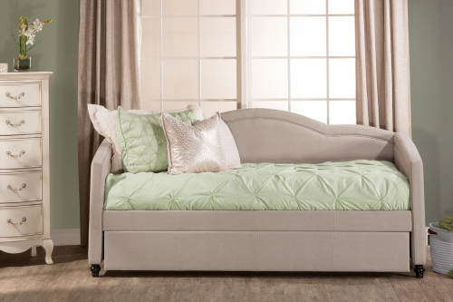 Jasmine Daybed with Trundle - Dove Gray Fabric