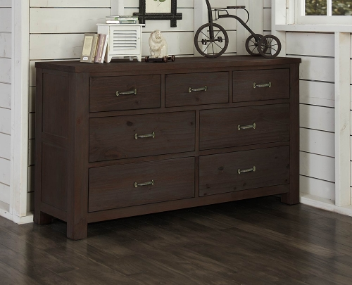 NE Kids Highlands 7 Drawer Dresser - Espresso