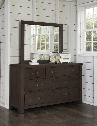 Highlands 7 Drawer Dresser with Mirror - Espresso