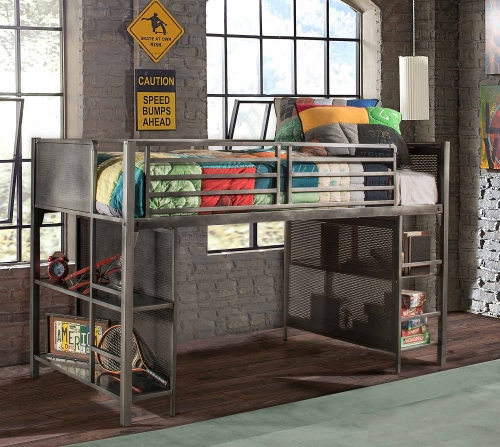Hillsdale Urban Quarters Youth Junior Loft - Black Steel