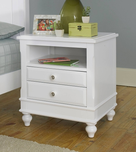 Lake House Nightstand - White