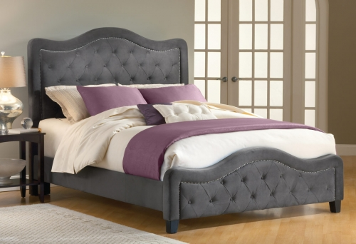 Trieste Tufted Upholstered Bed - Pewter