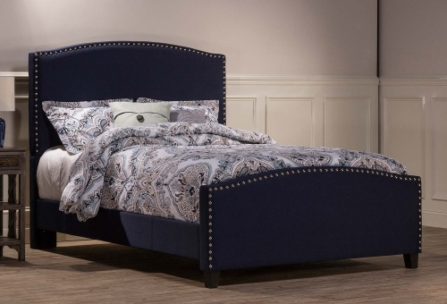 Kerstein Bed - Navy Linen