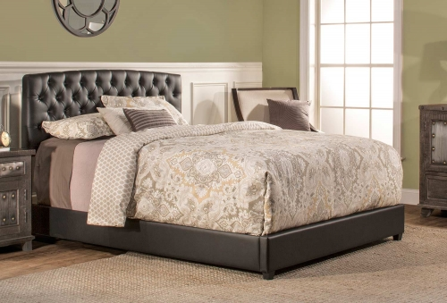 Hawthorne Upholstered Bed - Black Leatherette