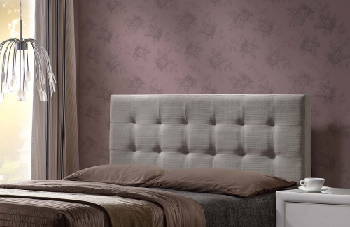 Duggan Headboard - Light Linen Gray