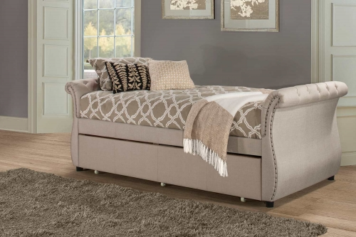 Hunter Backless Daybed with Trundle - Linen Sandstone