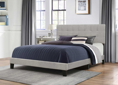 Delaney Bed - Glacier Gray Fabric