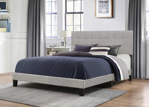 Delaney Bed - Glacier Gray Fabric