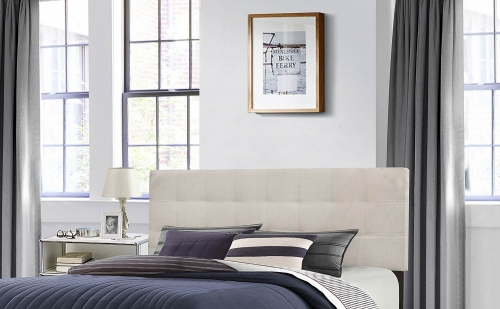 Delaney Headboard - Fog Fabric
