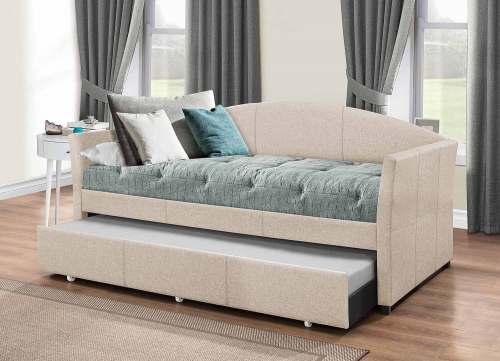 Westchester Daybed with Trundle - Fog Fabric