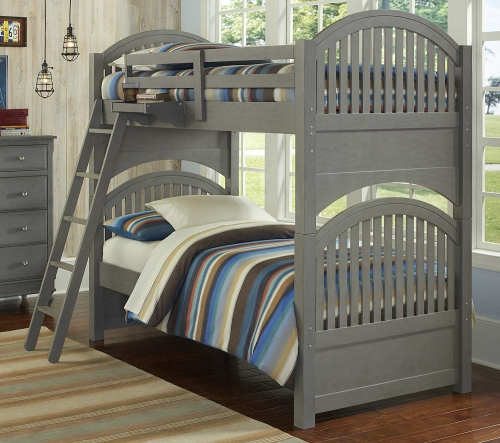 Lake House Adrian Twin Over Twin Bunk - Stone