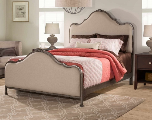 Delray Bed - Aged Steel