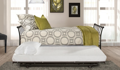 Midland Backless Daybed with Trundle - Black Sparkle