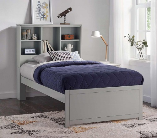 Caspian Twin Bookcase Bed - Gray