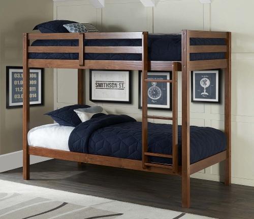 Caspain Twin Over Twin Bunk Bed - Walnut