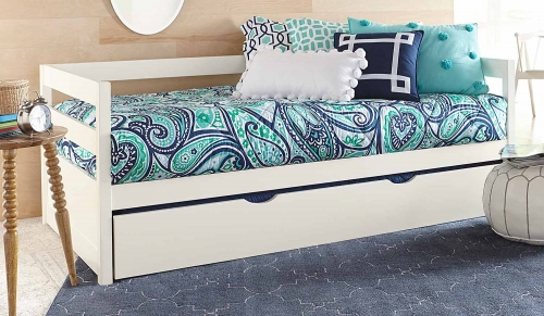 Caspian Daybed With Trundle - White
