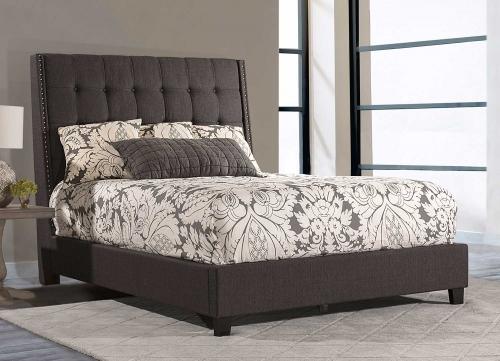 Meridan Bed - Olive Black Linen