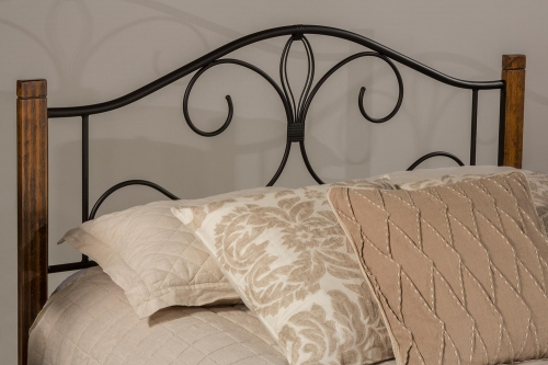 Destin Headboard - Black/Brushed Oak
