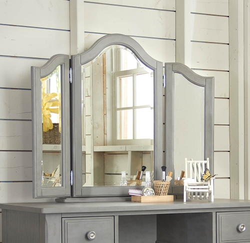 Lake House Vanity Jewelry Mirror - Stone