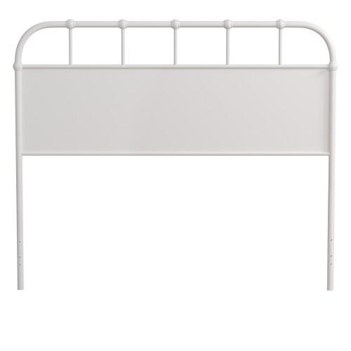 Grayson Metal Headboard - Textured White