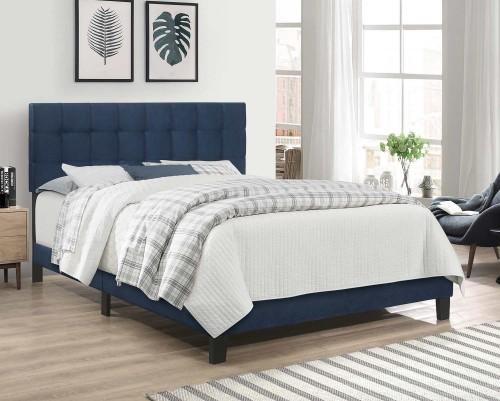 Delaney Full Bed - Blue Velvet