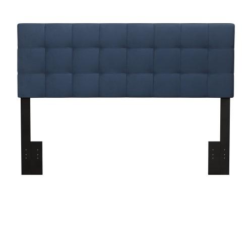 Delaney Upholstered Headboard - Blue Velvet