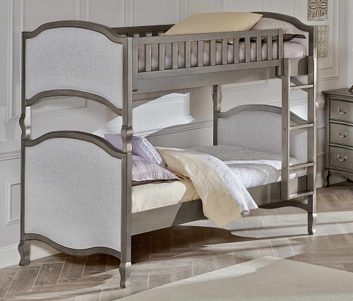 Kensington Victoria Twin Over Twin Bunk - Antique Silver