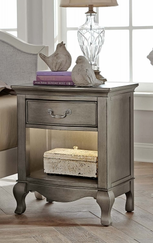 Kensington Nightstand - Antique Silver