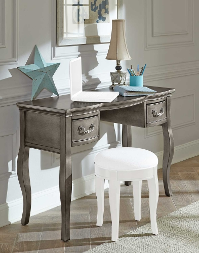 Kensington Writing Desk - Antique Silver