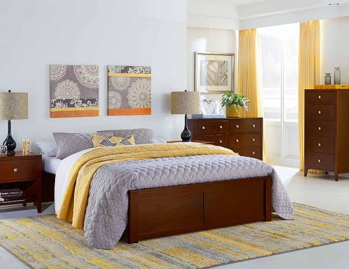Pulse Platform Bedroom Set - Cherry